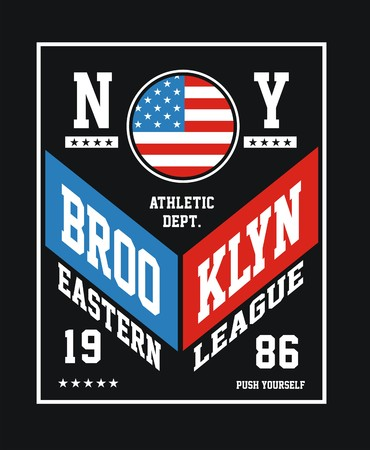 athletic brooklyn design typography, t shirt graphic Illustration