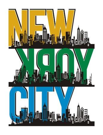 ニューヨーク市の建物ベクトル画像  イラスト・ベクター素材