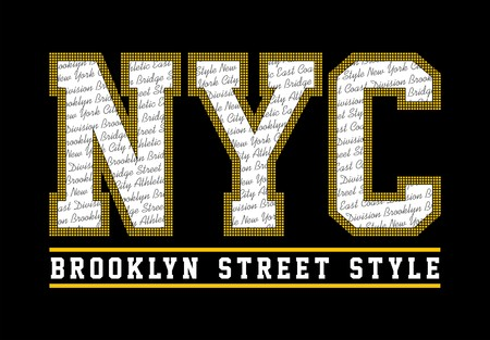 NYC Brooklyn Street Style, t shirt graphic