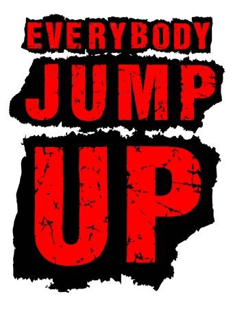 screen printing: Everybody jump up