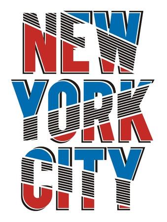New York City Typography Design Illustration