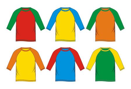 template t-shirt raglan