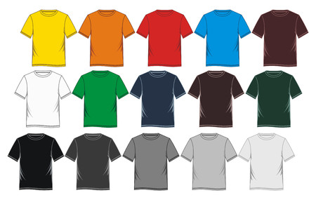 set mens t-shirt 向量圖像