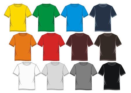 t-shirt sjabloon afbeelding