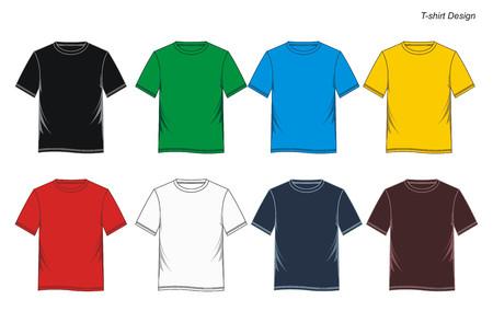 T-Shirt-Vorlage Standard-Bild - 82951524