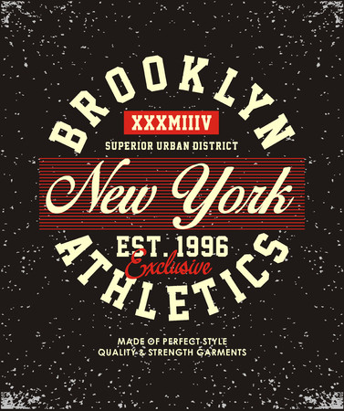 Brooklyn New York Leichtathletik Bild. Standard-Bild - 84201667