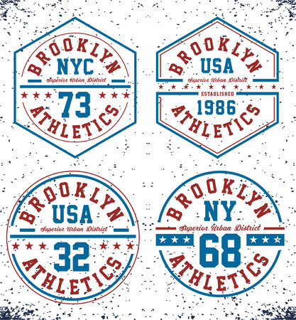 Athletics new York USA Illusztráció