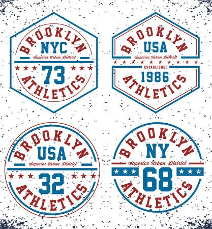 Athletics new York USA Illustration