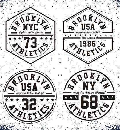 athletic wear: Set Brooklyn Sport black white Illustration