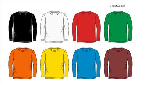 Grafische T-Shirt Schablonen Bunt Standard-Bild - 84224198