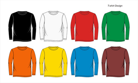 v neck: graphic T-shirt Templates Colorful