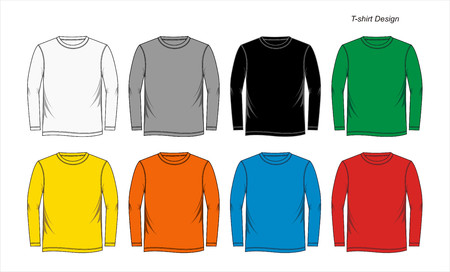 Colorful mens long sleeve t-shirts.