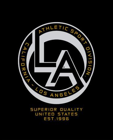 screen printing: Athletic Style LA Sport Illustration