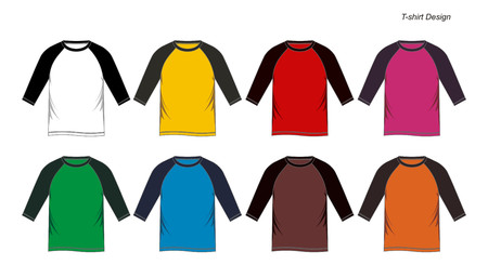 Colorful mens long sleeve t-shirts.