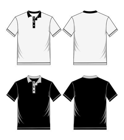 Hemdvorlage schwarz weiß Standard-Bild - 84571757