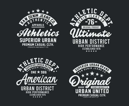 Varsity t-shirt black and white
