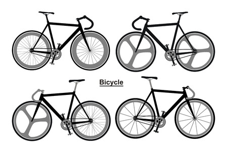 Bicycle set black and white