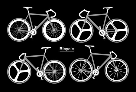 Set Bicycle black and white