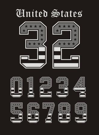 Athletic Set Number American