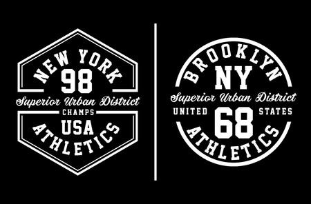NY Brooklyn Typography Black White