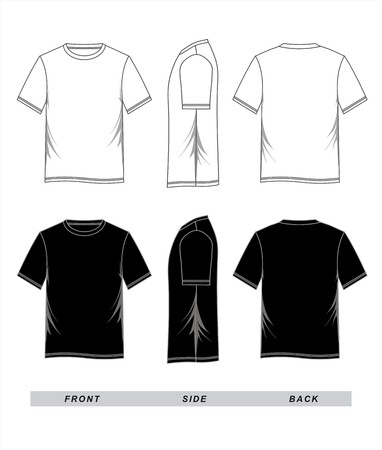 tshirt template vector illustration. 向量圖像