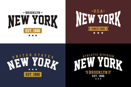 College New York T-shirt graphic