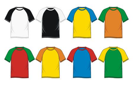 Mens short sleeve raglan t shirt Illustration