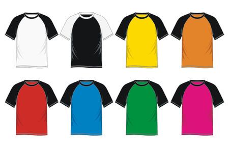 Mens short sleeve raglan t shirt - colorful