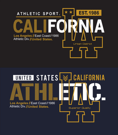 Athletic LA California vector image