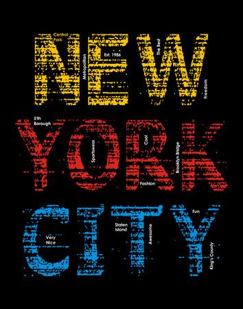 New York City print illustration