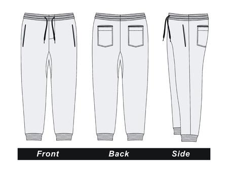 Hosenhosen, weiße Vektorbilder