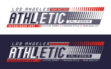 LA Athletic graphics, typography for t-shirt print. vector image