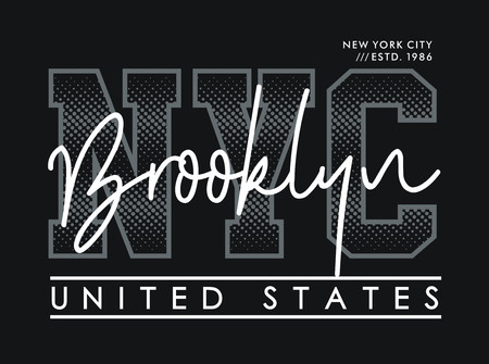 NYC typographic design. Stylish and modern T-shirt. Vector image Standard-Bild - 116523681