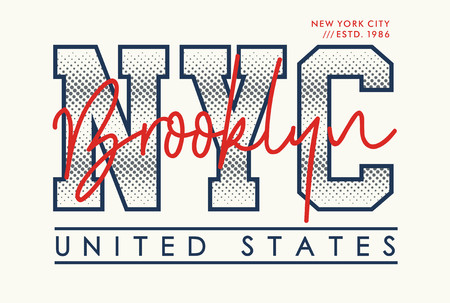 NYC Brooklyn, vector T-shirt design. Stylish and modern typographic.