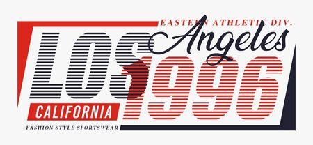Design typography LA 1996 for print t shirt, vectors