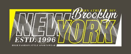 Typography New York Brooklyn for print t shirt, vector design