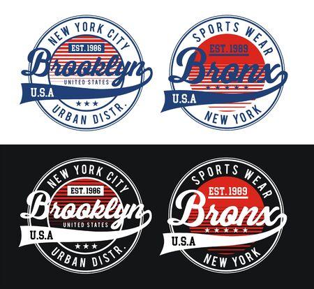 Conception de typographie style universitaire américain, t-shirt et diverses utilisations, vecteurs Vecteurs