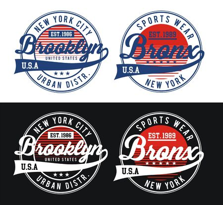 Typography design varsity USA style, t-shirt and various uses, vectors Ilustração