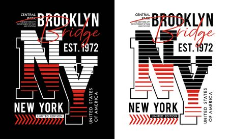 New York typography varsity USA style, t-shirt and various uses, vectors