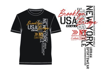 T-shirt and apparel design,New York textured lettering. typography USA style, poster, Vectors