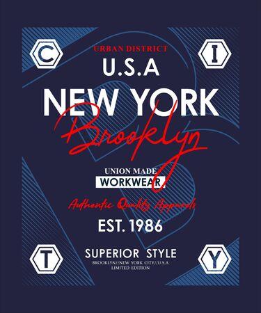 New York, slogan for t-shirt design. Tee shirt typography graphics, vector.
