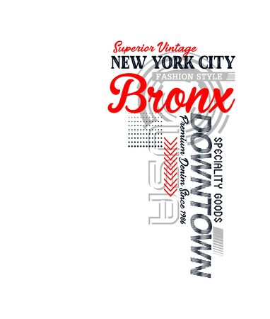 New York City, Bronx, t-shirt print and other jobs. Vectors