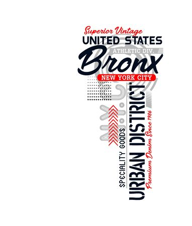 Bronx, united states, t-shirt print and other jobs. Vectors