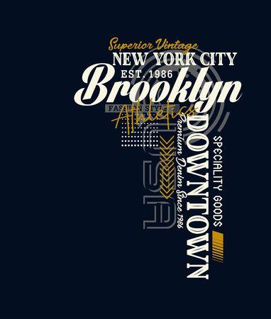 New York City, Brooklyn, t-shirt print and other jobs. Vectors