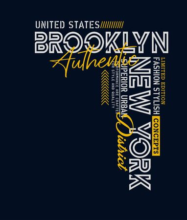 New York, Brooklyn sport, united states, t-shirt print and other jobs. Vectors