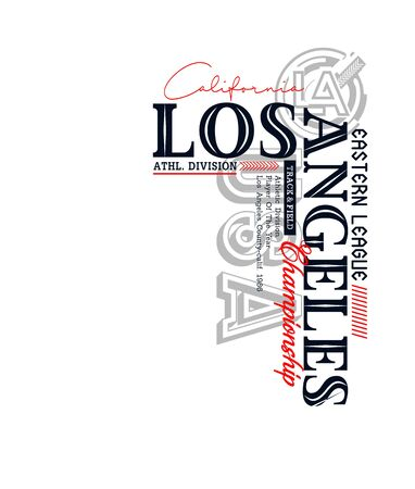 Los Angeles sport, t-shirt print, label and for other jobs. Vector illustration. Ilustração
