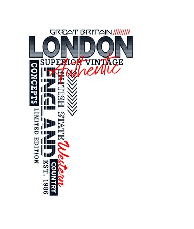 Athletic London, England, t-shirt print, label and for other jobs. Vector illustration.