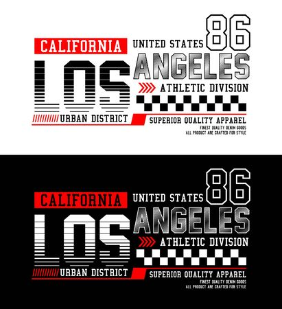 Los Angeles,  t-shirt print, label and for other jobs. Vector illustration.