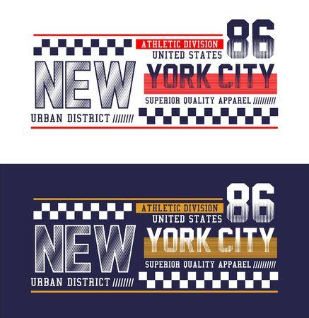 New York City, t-shirt print, label and for other jobs. Vector illustration. Ilustração