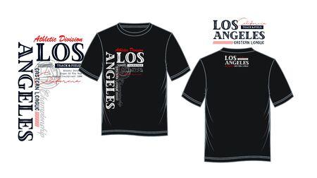 Los Angeles, California, t-shirt print, label and casual wear. Vector. Ilustração